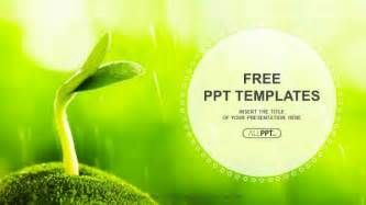 powerpoint free design templates sprout in springtime nature powerpoint templates