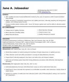 Phlebotomist Sample Resume phlebotomist resume sample free phlebotomist resume sample free