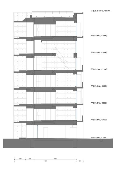 section apartments apartment in katayama elevation section and floor plans