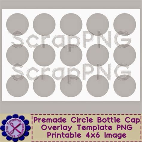 bottle cap image template scrappng my free bottle cap template