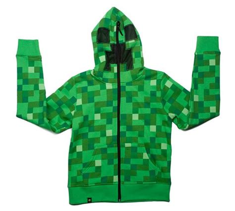 Sweater Hoodie Mine Craft buy minecraft creeper boys green hoodie 5 6 years at argos co uk your shop for boys
