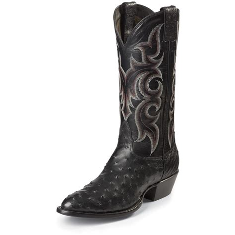 ostrich boots s nocona 174 13 quot quill ostrich boot boots 578413
