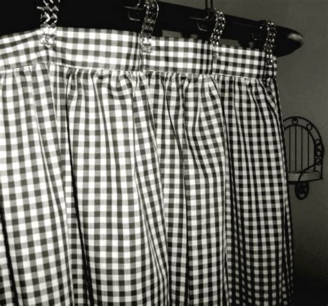 Black And White Gingham Curtains Black And White Gingham Check Fabric Shower Curtain