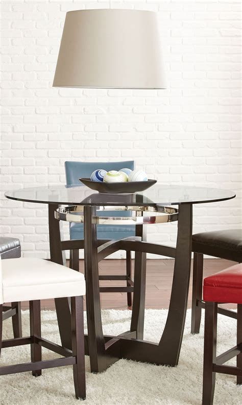matinee glass top counter height dining table from
