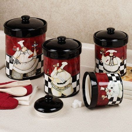 canisters kitchen decor chef de cuisine canister set multi warm set of four