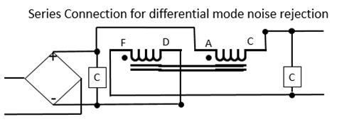 differential mode choke design j k audio design 2 coil choke