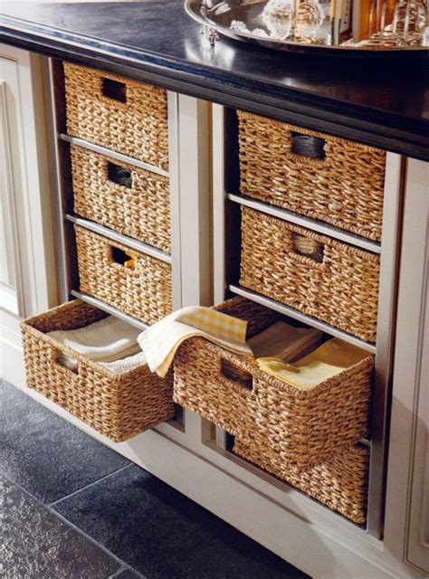 Replace Kitchen Drawers by Replace Drawers With Wicker Baskets Home
