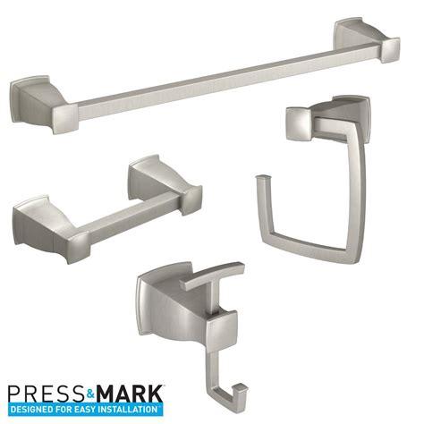 moen bathroom hardware moen hensley press and mark 4 piece bath hardware set with