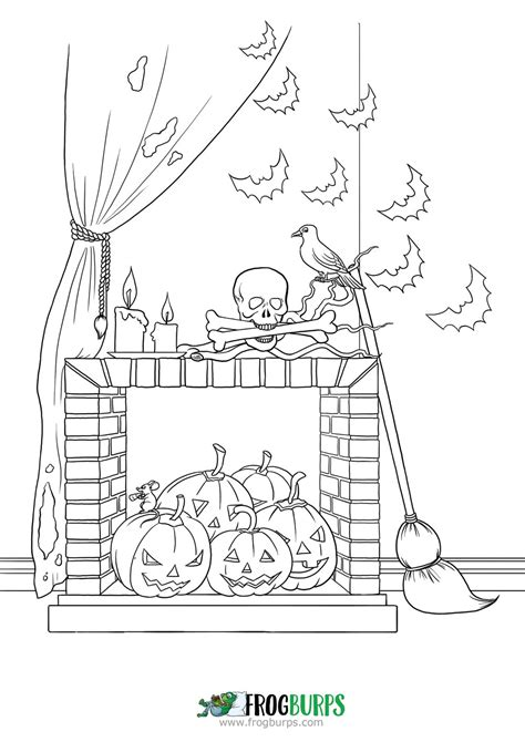 halloween candy coloring page frogburps