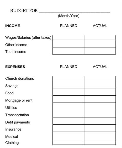 bi weekly budget template biweekly budget template 6 free word pdf documents