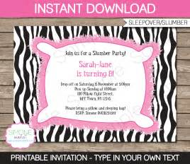 sleepover invitation templates free slumber invitations template sleepover birthday