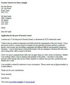 cover letter for security officer 2014 security guards