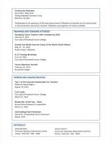 A Resume Format by Sle Resume Format For Fresh Graduates Two Page Format