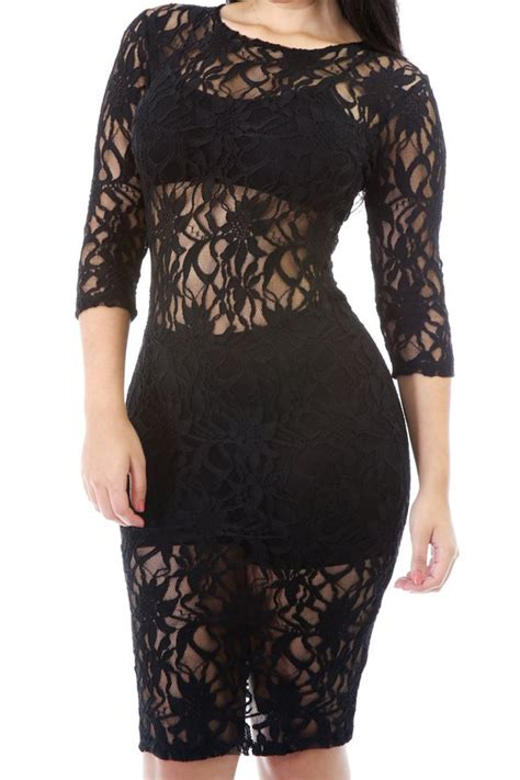 black lace dresses see through see through lace bodycon dress black lace dresses zaful