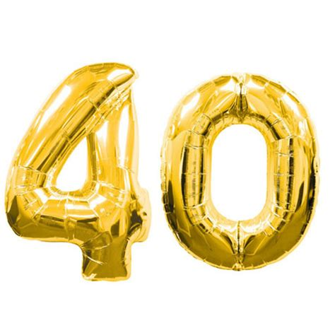Hang Curtains by Large Gold Number 40 Balloons 40 Quot Gold 40th Birthday