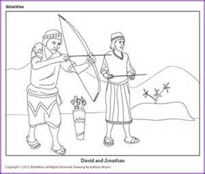 coloring david and jonathan sketch template - David Jonathan Coloring Pages