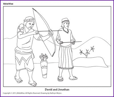 Coloring David And Jonathanl Kids Korner Biblewise Bible David Color Photos