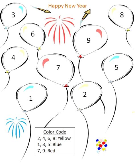 new year color by number quality pre made math worksheets color by number new