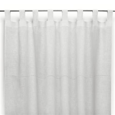 tende lino bianco tenda a bastone in lino ajour bianco panna cuore di lino