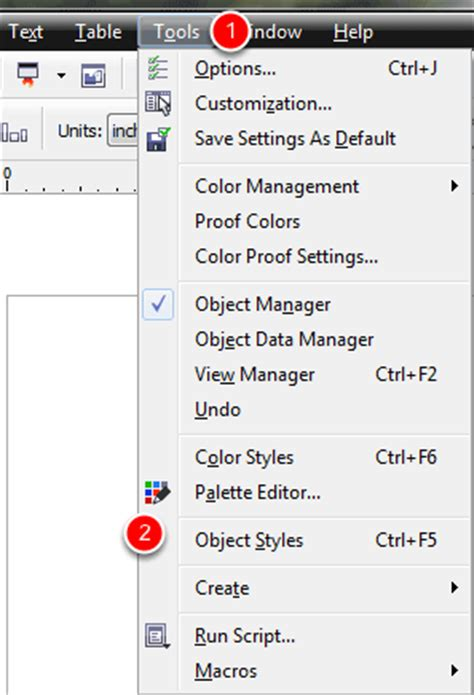 coreldraw x6 outline changing the default pen width in coreldraw x6