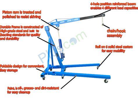 kg  ton tonne hydraulic folding engine crane stand hoist lift jack blue ebay