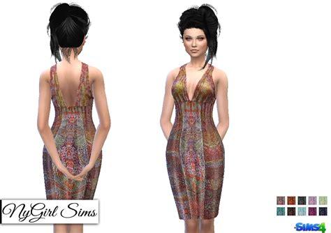 Dress Triball 2 nygirl sims 4 ts2 tribal dress conversion