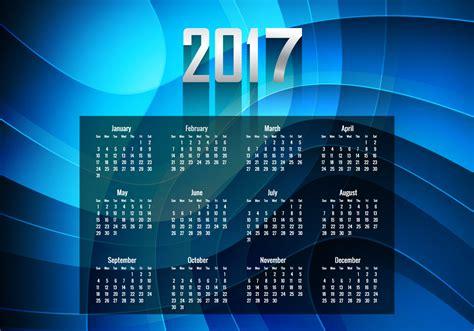 Calendario Happy New Deals Mediaworld Glowing Blue Year 2017 Calendar Free Vector
