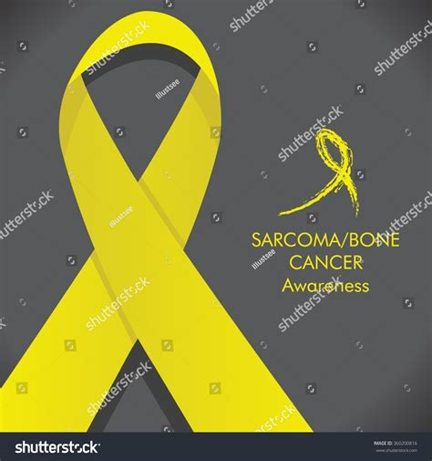bone cancer color sarcoma bone cancer awareness yellow ribbon color