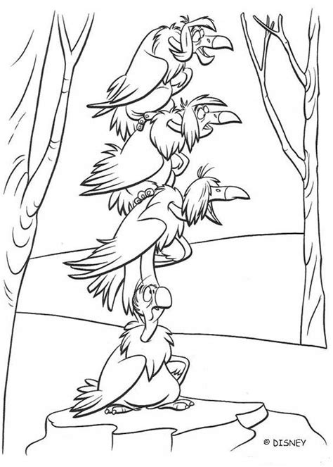 king vulture coloring page vultures of the jungle coloring pages hellokids com