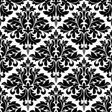 black and white floral pattern vector black and white floral arabesque pattern with a geometric