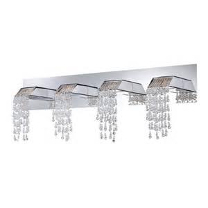 In Vanity Lights Canada Shop Eurofase Fonte 4 Light 11 In Chrome Waterfall Vanity