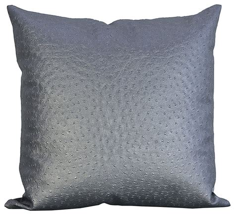 decorating leather with pillows ostrich faux leather decorative throw pillow decorative