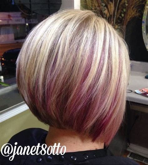 hairstyles with blonde and purple highlights 20 cuts of hair with streaks of color 187 new medium hairstyles