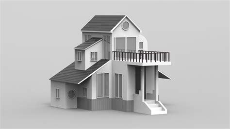 3d Duplex House Models
