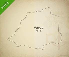 Vatican City Map Outline by Free Vector Map Of Vatican City Outline One Stop Map