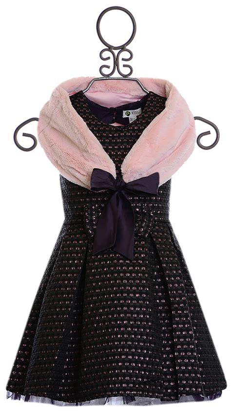 Labella Denim Gamis Reguler Bolero Pink petit lem dress with shrug