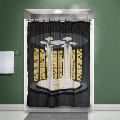 trek tng transporter shower curtain thinkgeek