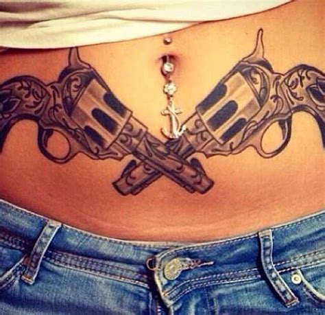 crossed pistols tattoo ink me pinterest