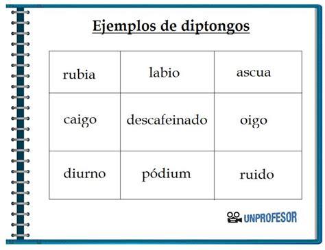 ejemplo de diptongos ejemplos de diptongos