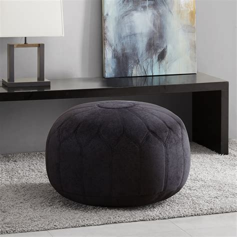 how to make a pouf ottoman madison park kelsey round pouf ottoman ebay