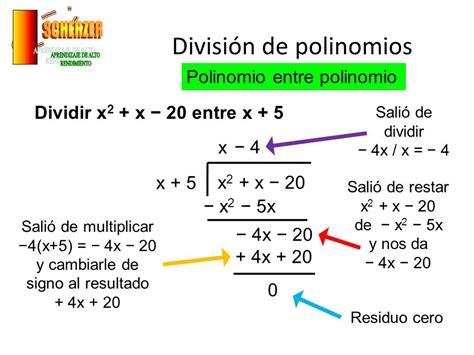 suma y resta de polinomios multiplicacin de polinomios y divisin suma resta multiplicaci 243 n y divisi 243 n de polinomios