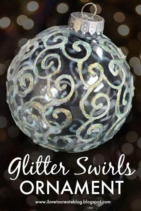 diy glitter twine ornaments diy glitter swirls ornament