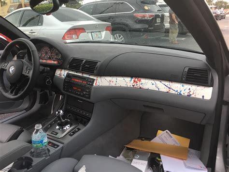 Car Interior Trim Paint by Splatter Paint Trim Pieces Kidney Grills Shift Knob And
