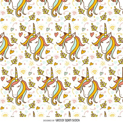 doodle how to make unicorn unicorn doodle pattern vector