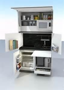 cuisine compacte sur meubles peu encombrantes