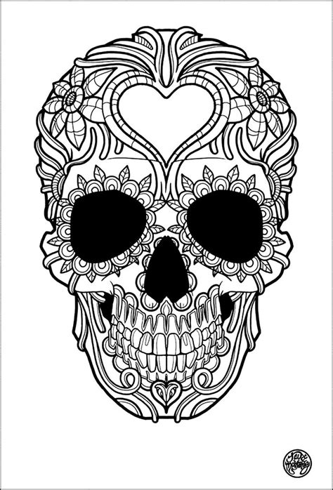 simple skull tattoos easy marijuana skull coloring pages