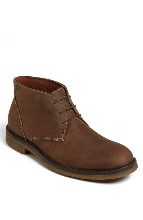 johnston murphy boots mens johnston murphy copeland suede chukka boot in brown for