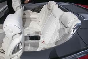 2018 mercedes maybach s650 cabriolet rear interior seats