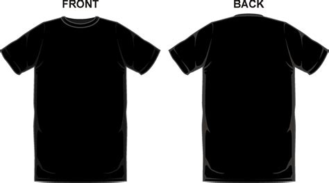 Black T Shirt Template Up Date Photos Front And Back Clipart Ideastocker T Shirt Front And Back Template