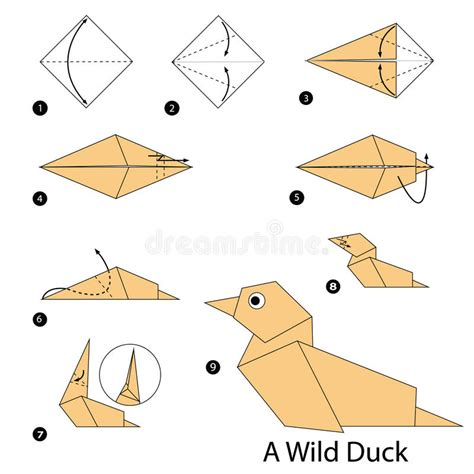 Steps To Make Paper - origami duck www pixshark images